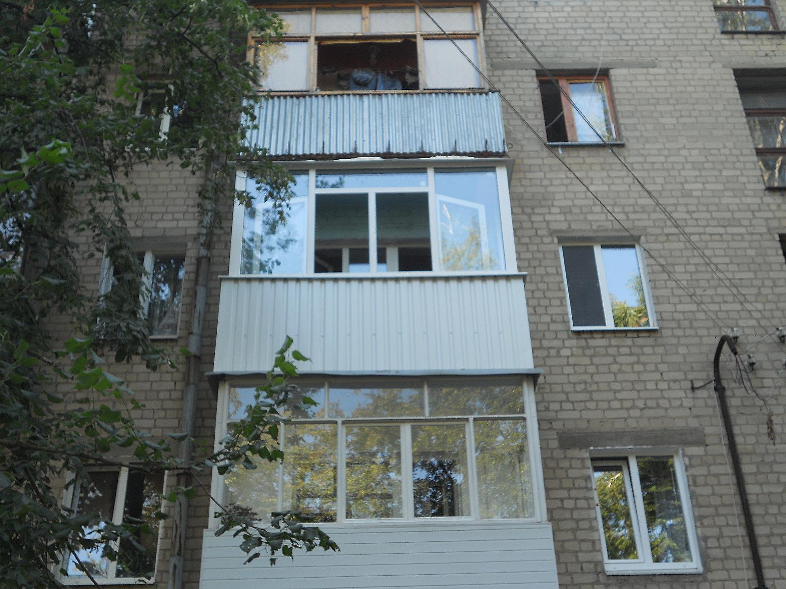 Отделка балконов в серии 1 511. - цены на металлопластиковые.